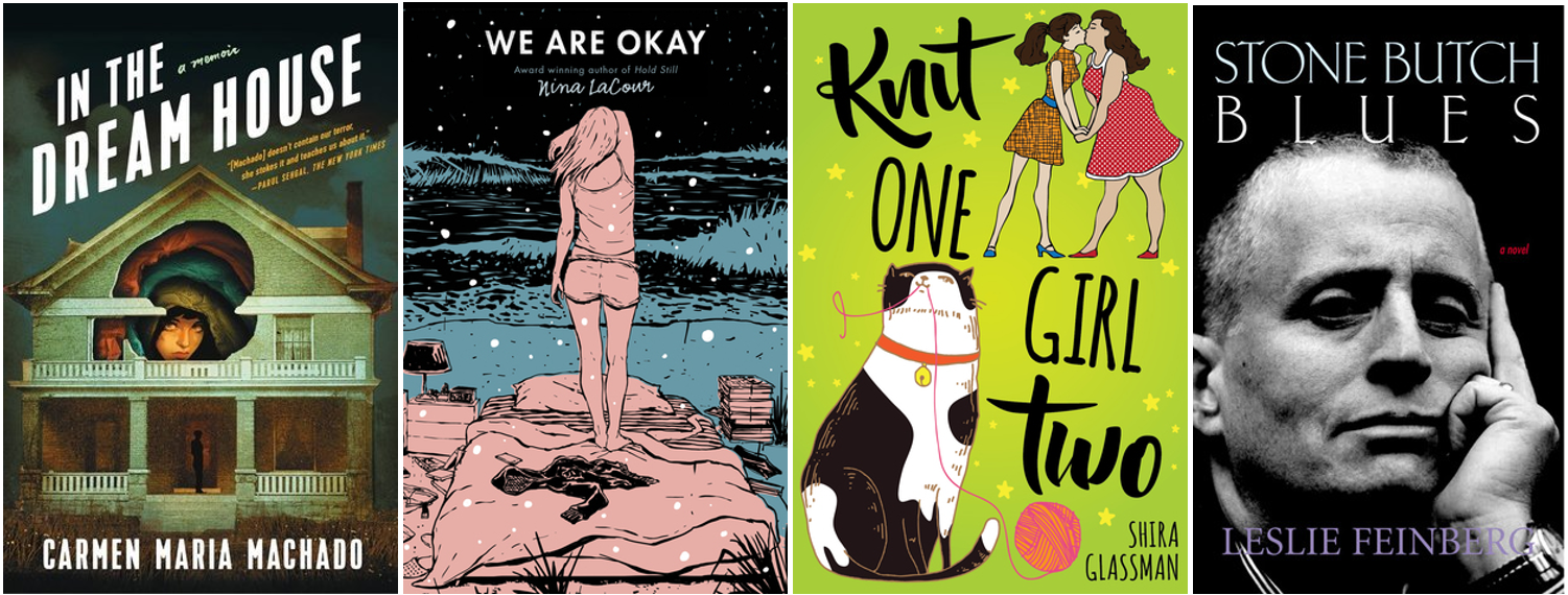 Four LGBT+ books' covers
