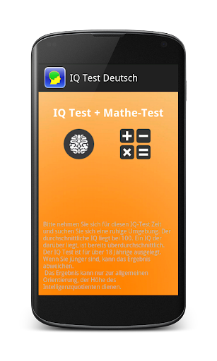 IQ Test Deutsch