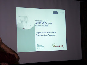 Photo: The main presentation was High Performance New Construction