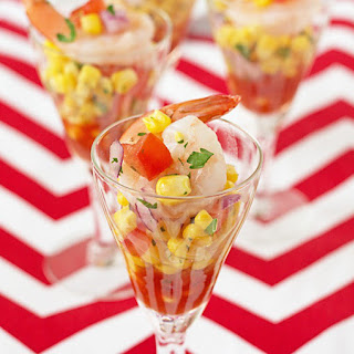 Shrimp and Corn Salsa Shooters