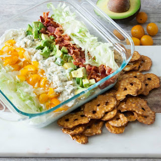 Cobb Salad Dip (Healthy, Low Calorie) #SundaySupper Recipe