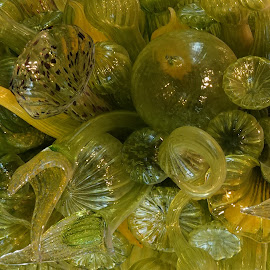 by Dee Haun - Artistic Objects Glass ( artistic objects, 180327f0916ce1, glass, gardens, green, botanical, chihuly, up close, yellow, atlanta )