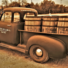 Holly Water by Benito Flores Jr - Transportation Automobiles ( chevy, whisky, vintage, truck, blanco, texas )