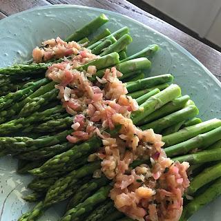 Asparagus with Dijon Thyme Shallots.