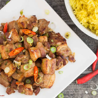Salt and Pepper Pork Belly.