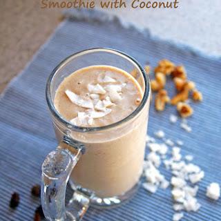 Banana-Nut Oatmeal-Raisin Smoothie with Coconut