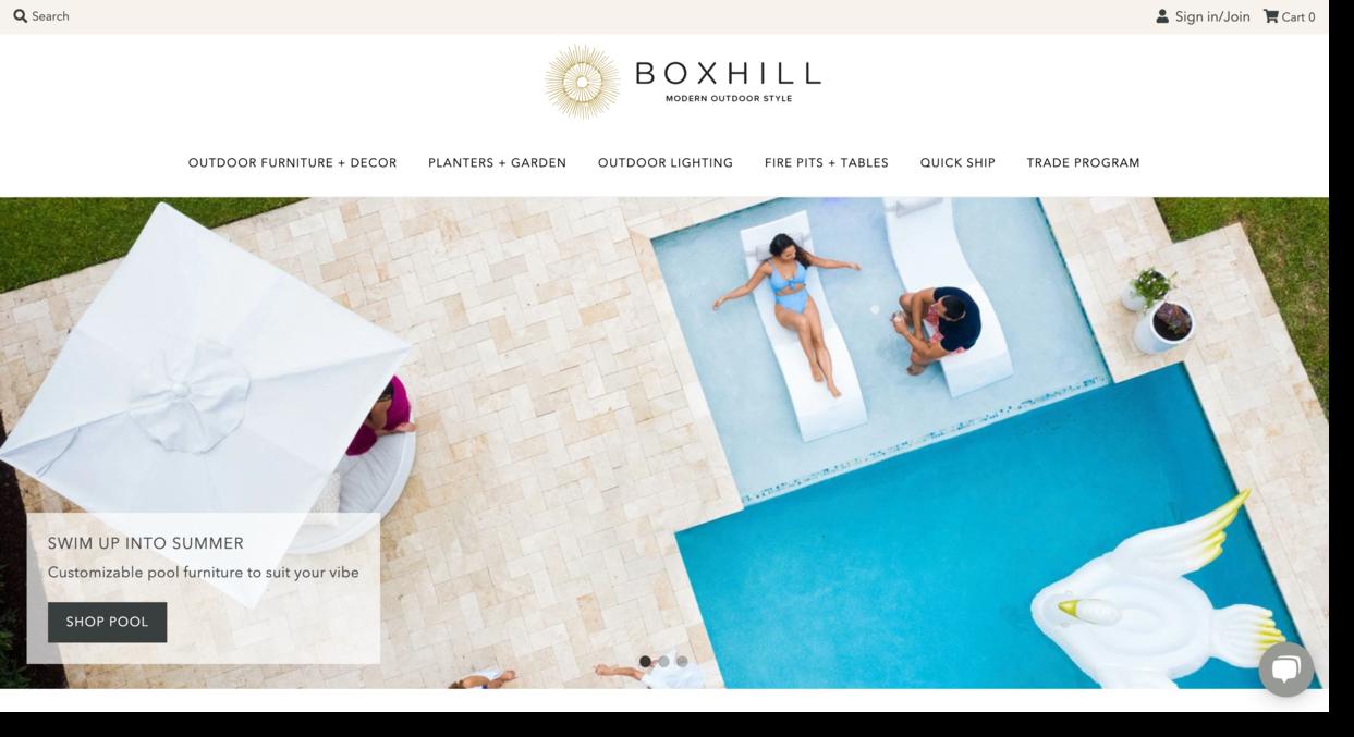 Boxhill landscape designer website screenshot