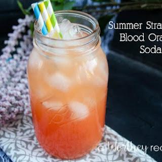 Summer Strawberry Blood Orange Soda.