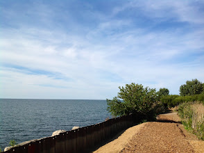 Photo: Lake Erie as seen from a loop trail in the Cleveland Lakefront Nature Preserve