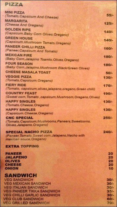 Creme N Crisp menu 1