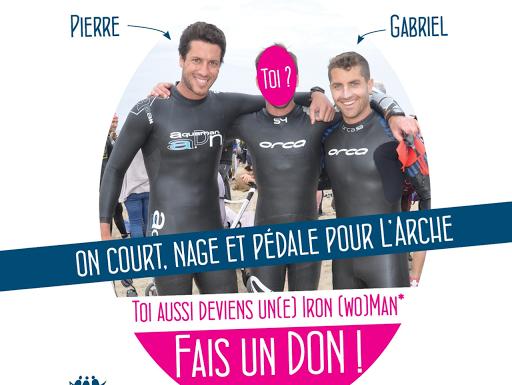 Iron Man 2015 avec Gabriel et Pierre au profit de L'Arche