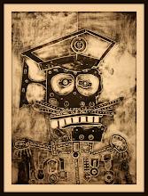 Photo: Antonio Berni El coronel amigo de Ramona 1963. Xilocollage. Matriz xilográfica: 78,1 x 56,9 cm. Estampa: 99,7 x 64,3 cm. The Museum of Fine Arts, Houston, EE.UU. Expo: Antonio Berni. Juanito y Ramona (MALBA 2014-2015)
