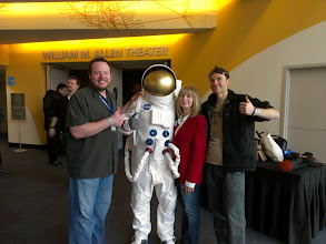 Photo: David, Sandy & Me with the Spaceman