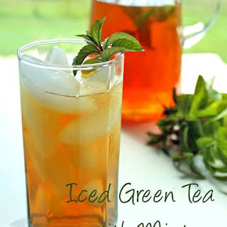 Iced Green Tea with Mint.
