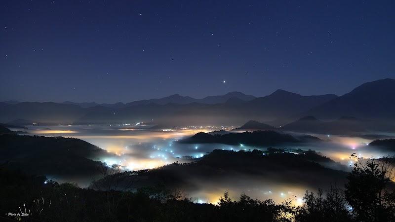 金龍山、雲海、夜琉璃