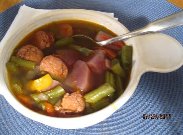 String Bean And Linguica Soup Recipe
