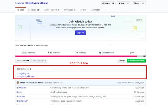 GitHub Text Search