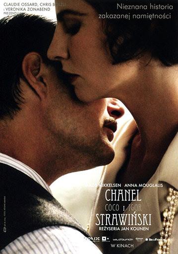 Przód ulotki filmu 'Chanel i Strawiński'