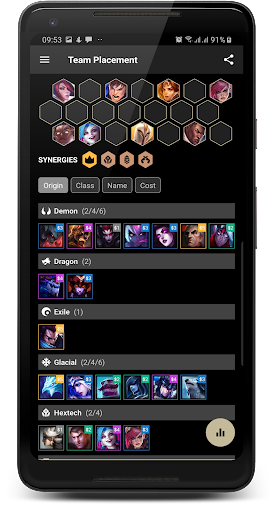 Builds for TFT Teamfight Tactics hack tool