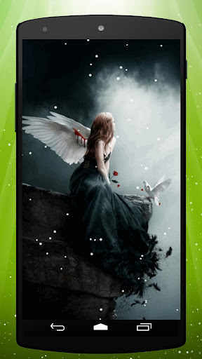 Snow Angel Live Wallpaper