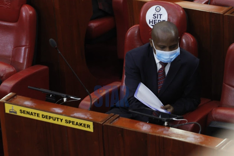 Beseiged Senate Deputy Speaker Kithure Kindiki in Parliament for special sitting to debate his removal on May 22, 2020.