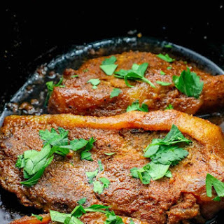 Easy Slow Cooker Pork Steaks.