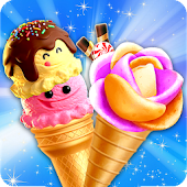 Summer Ice Cream Cone Maker: Street Frozen Food Android APK Download Free By Crazy Game House