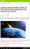 Screenshot of Telegraf Najnovije Vesti