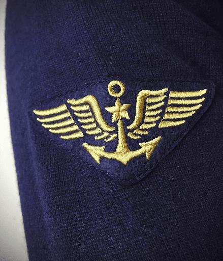 détail pull laine dassault aviation rafale étendard marine national aéronaval  barnstormer