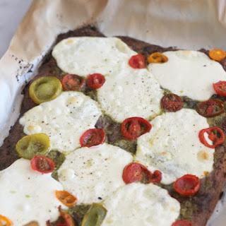 Low Carb Mozzarella Pesto Flatbread.