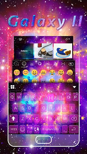 Galaxy2 Emoji Keyboard Theme