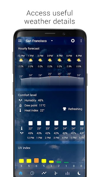 Transparent clock weather (Ad-free) Screenshot Image