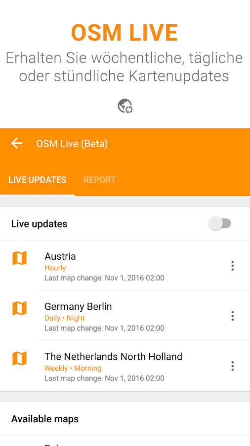 Karten GPS Navigation OsmAnd+ – Screenshot