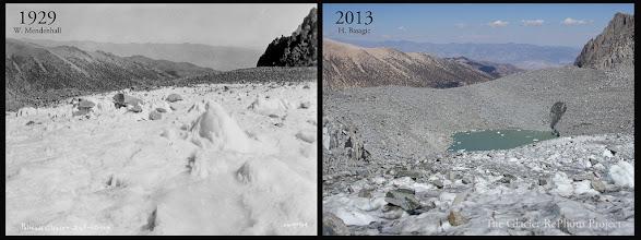 Photo: Palisade Glacier Source: 1929 - Glaciers of the American West 2013 - The Glacier RePhoto Project