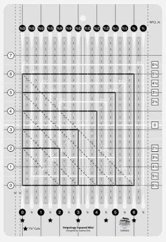 Creative Grids Stripology Mini Square Ruler (12035)