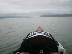 Photo: July 21 - Heading five miles across the mouth of Berners Bay to Point St. Mary