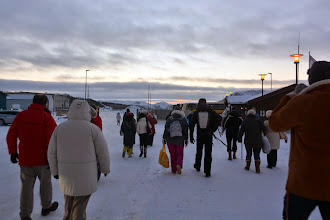 Photo: We arrive in Kirkenes and head towards our excursion to the Russian Border