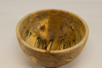 """Photo: Bob Browning 4"""" x 4""""  bowl [spalted maple]"""