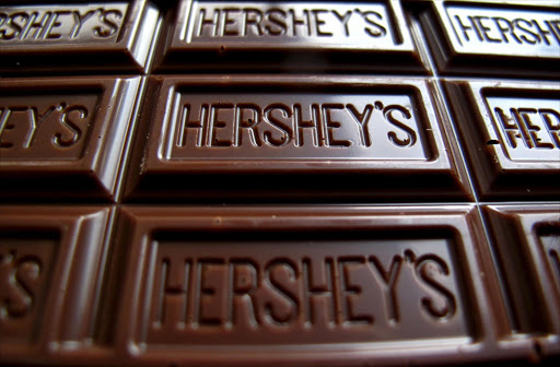 A Hershey's chocolate bar is shown in this photo illustration in Encinitas, California, US in January 2015. Picture: REUTERS