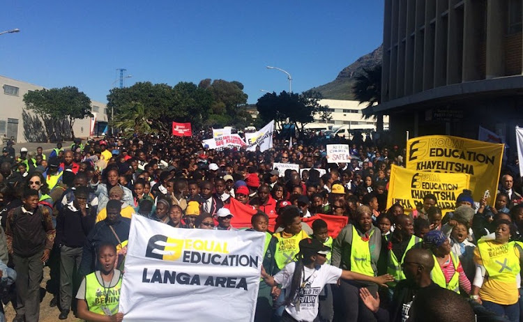 Thousands marched to Parliament on Friday to highlight violence in schools. Picture: FARREN COLLINS