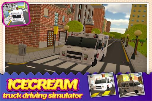 アイスクリームの配達トラックシム3D