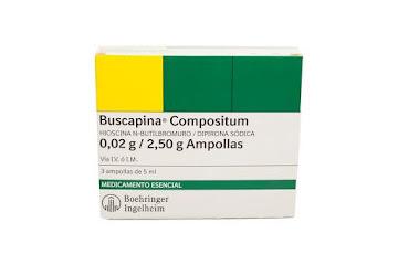 Buscapina Compositum   Caja X3Amp. Boe Hioscina N-Butilbromuro Dipirona
