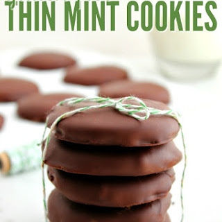 Copycat Gluten Free Thin Mint Cookies.