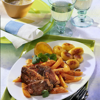 Pan-Fried Lamb and Potatoes with Spiced Carrots