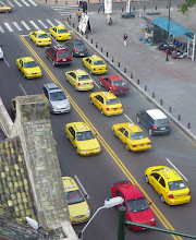 Photo: Ambato has lots of taxis