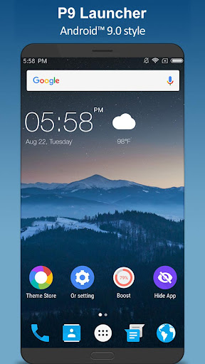 P 9.0 Launcher - Android™ 9.0 Pie Launcher ? 3.4.1 screenshots 1