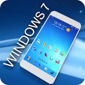 Blue Windows Go Launcher Theme