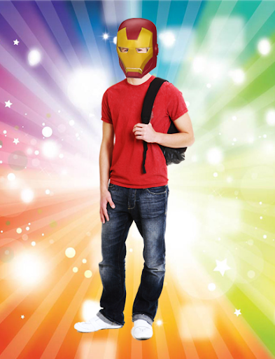 Superheroes Mask Photo Sticker