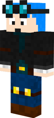 Dan colored his hair blue so I made a skin to match. Hope you guys like it!