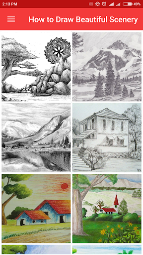 How to Draw Beautiful Scenery screenshots 2